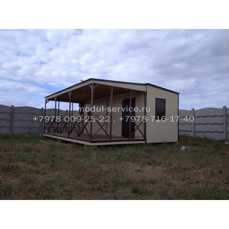 Дачный дом с террасой. art.0107